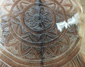 Mandala goat skin