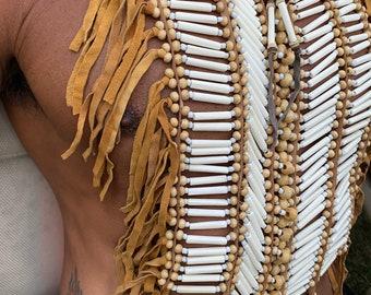 Bone chest piece.