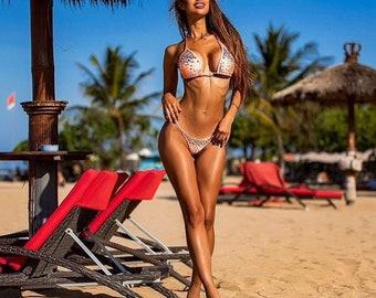 Peach cheeks brazilian bikini