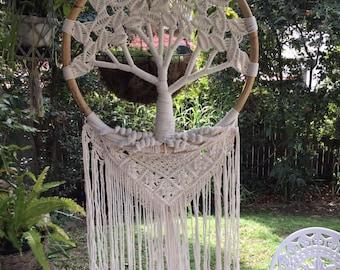Tree of life dreamcatcher. 52 cm