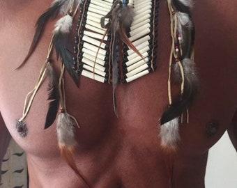 Tribal theme - bone neck / chest plate