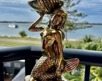 Brass mermaid. 23 cm. X 10 cm.