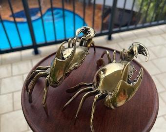 Brass crabs.  X 2.