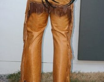 Leather indian style pants