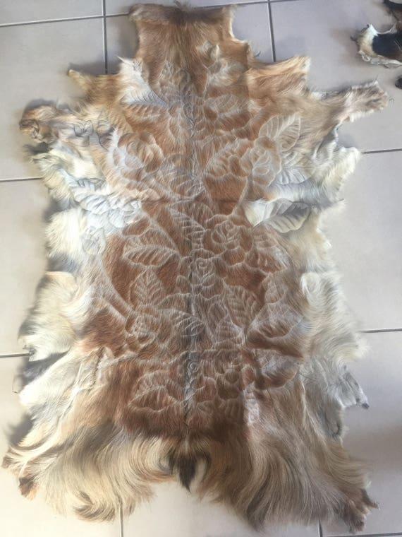 Goat Hide Handcarved