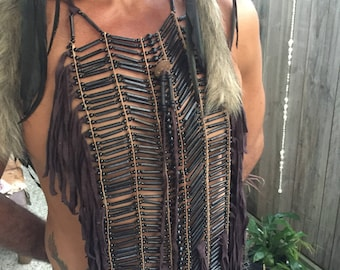Tribal bone chest piece