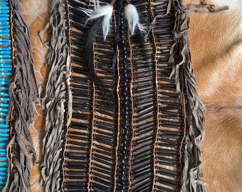 XL  Handcarved bone chest piece.