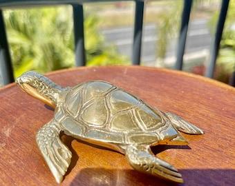 Brass sea turtle