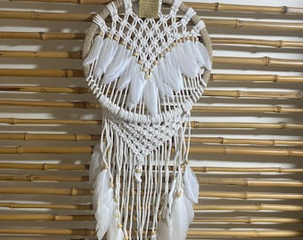 Angel dreamcatcher - white feathers