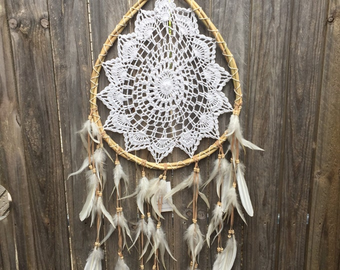 Featured listing image: White tribe dreamcatcher
