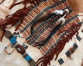 Arm band bracelet and chestpiece set.  3 pieces.