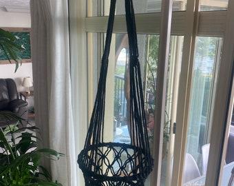 Macrame pot hangers 70 s retro style