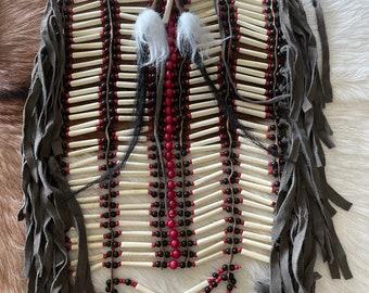 Handcarved bone chestpiece