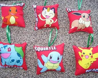 Pokemon Pillow Ornaments  - Set of 6