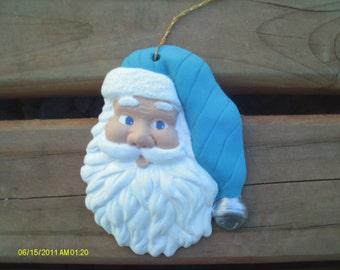 Santa Claus Ornament - Blue Hat