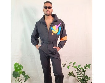 Vintage ski suit from 90s/ One piece jumpsuit/ Retro / Ski wear/ Size S-M
