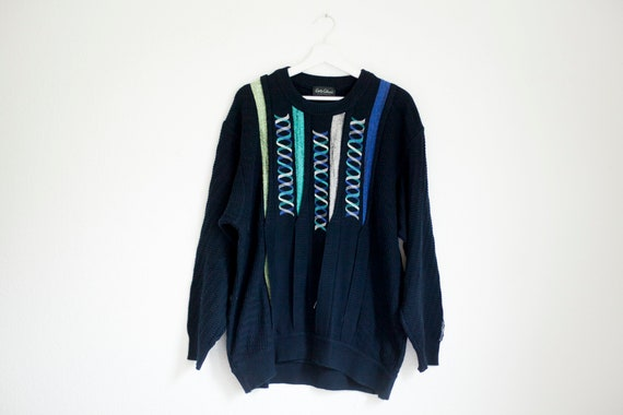 Carlo Colucci vintage  sweater navy blue