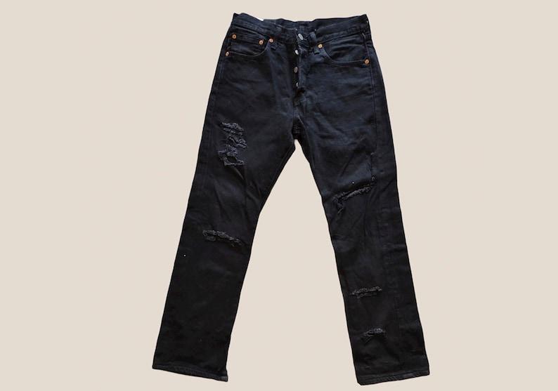 Levi/'s 501 W28 L32 black vintage