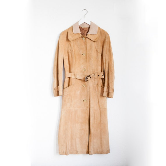 Trench suede coat from 60s/70s