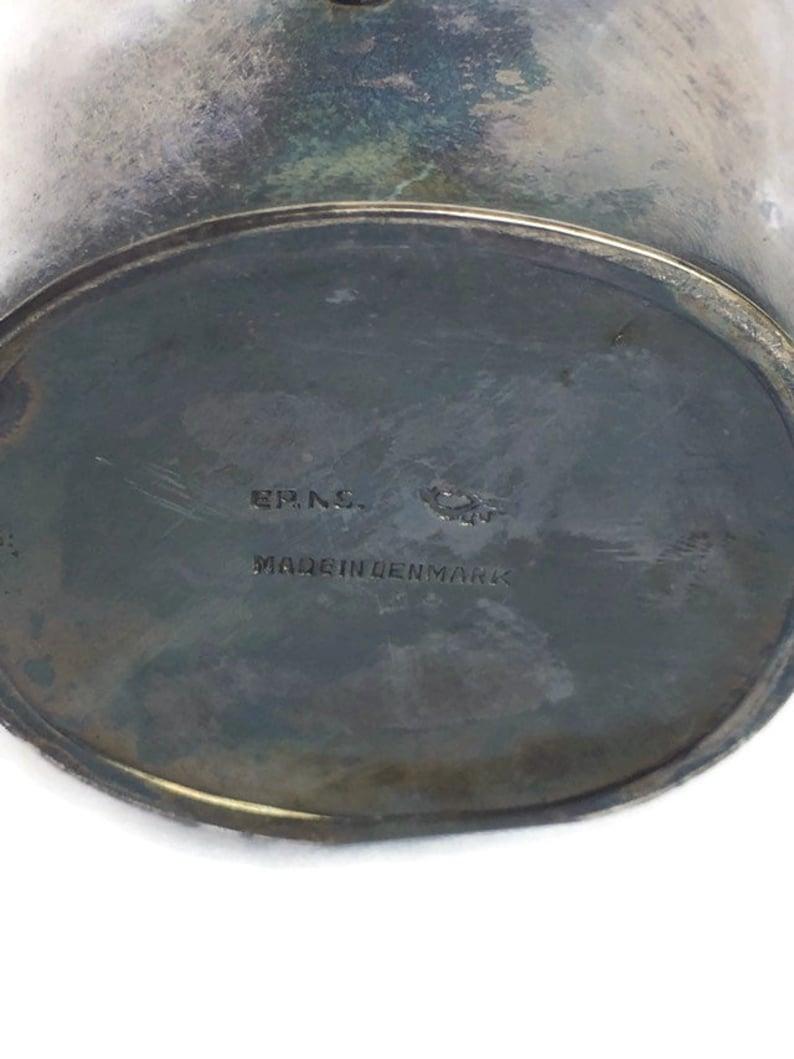 Vintage Hans Jensen Vintage Silverplate Pitcher Vase Danish Modern Denmark