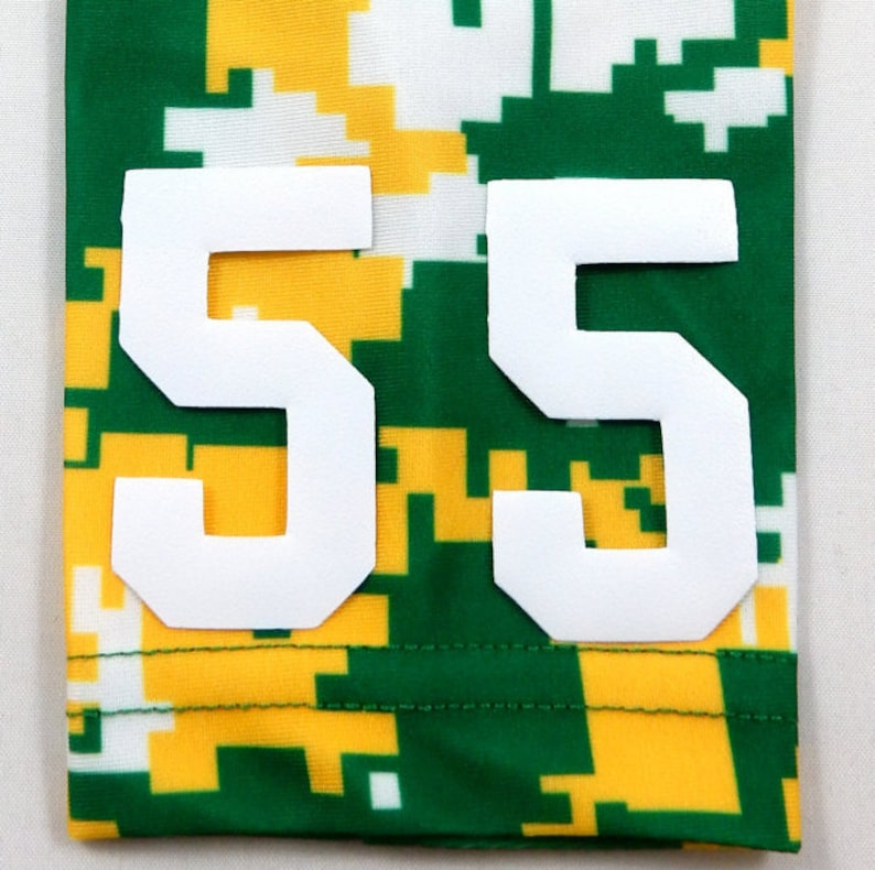 5beb21bdd78d5 Custom Number (PICK YOUR NUMBER) Green Yellow White Camo Elite Sports Arm  Sleeve Digital Basketball Football Baseball Soccer Softball