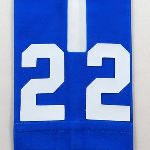 Jersey Number ADULT SMALL Arm Sleeve ELITE ROYAL BLUE WHITE Football Basketball