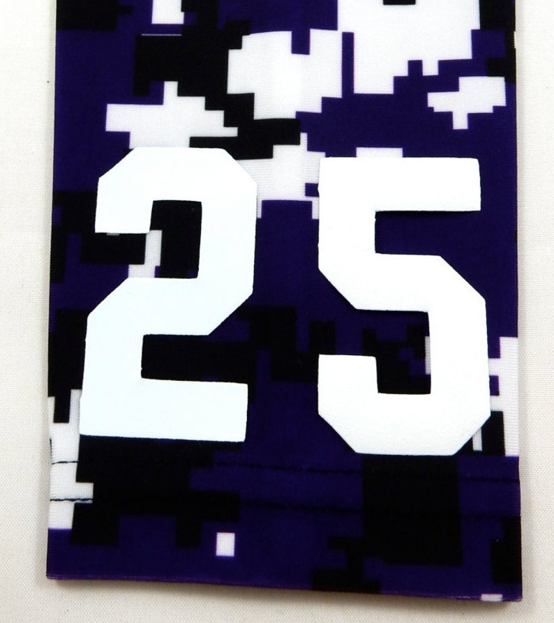 a0881dfd5ded8 Custom Number (PICK YOUR NUMBER) Purple Black White Camo Elite Sports Arm  Sleeve Digital Basketball Football Baseball Soccer Softball