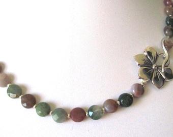 Jasper   necklace     Fancy jasper