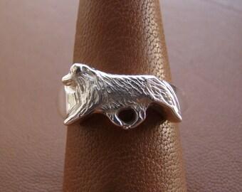 Australian Shepherd Aussie Dog Silver Alloy Drop Hook Earrings Jewelry