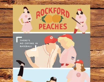 """A League Of Their Own - READY TO SHIP  11"""" x 17"""" Giclee Print"""