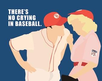 No Crying In Baseball - Notecard