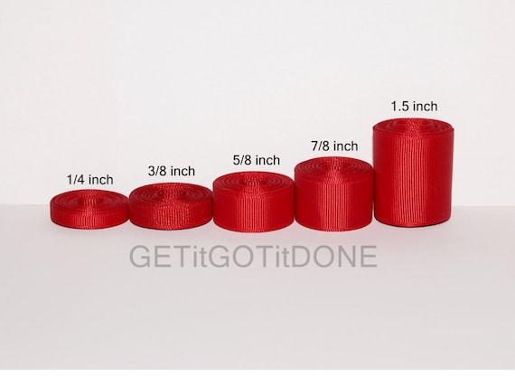 Red Grosgrain Ribbon 5 Werften Sie Wählen Die Breite 14 Etsy