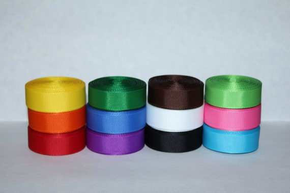 """65 yards Primary Colors Over The Rainbow 3//8/"""" Grosgrain Ribbon Lot"""