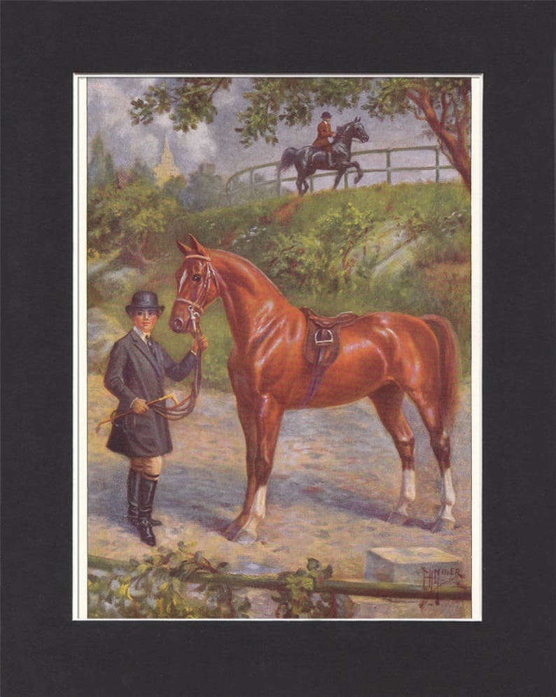 American Saddle Horse Print 1923 By Edward Miner Print of image 0