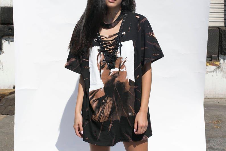 186bcc497b1 Biggie Distressed T-shirt Dress Biggie T-shirt Dress Tupac