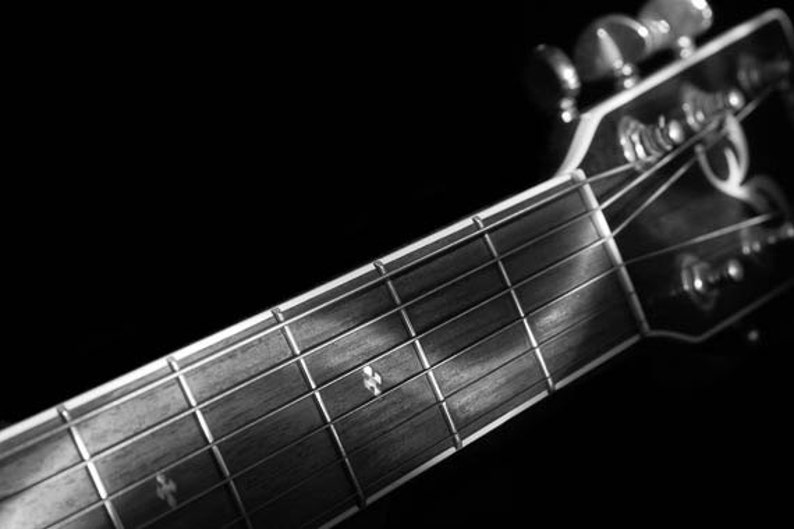 Y Negro Arte Pared ParedPintura FotografíaBlanco NegroLa GuitarraBellas ImpresiónLuzAcústica Artes De yNP08wOvmn