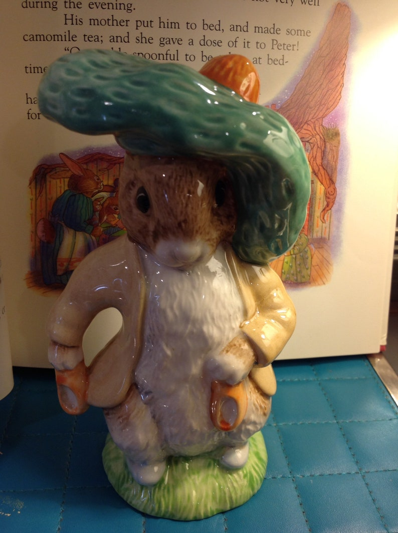Beatrix Potter Pottery Royal Albert Beatrix Potter Large Peter With Red Picket Handkerchief