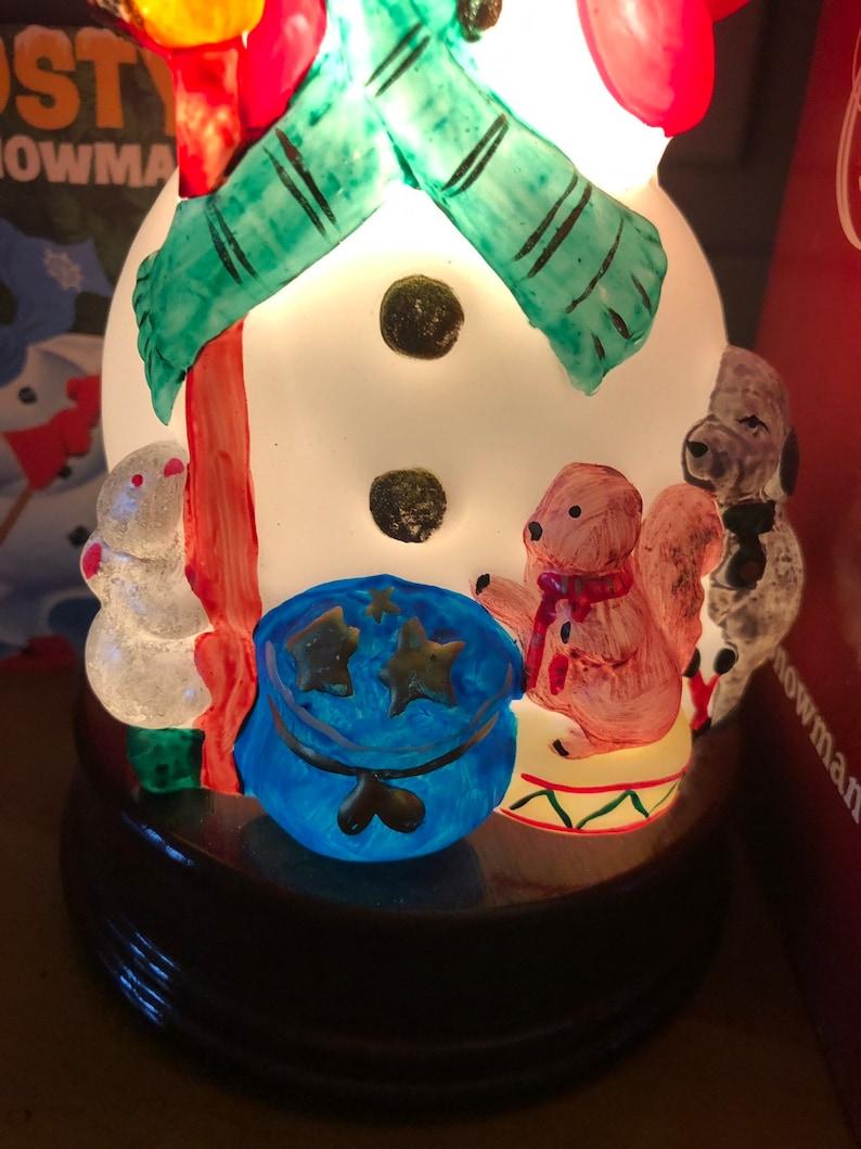 Vintage Merck Old World Jovial Snowman Light
