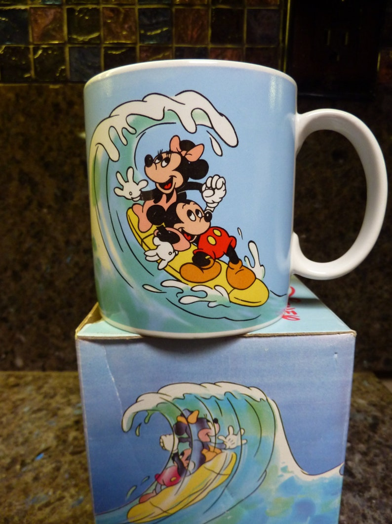 Mug Mouse Minnie Mickey Walt Disney Applause Surfing 1987 And thBQsdCrx