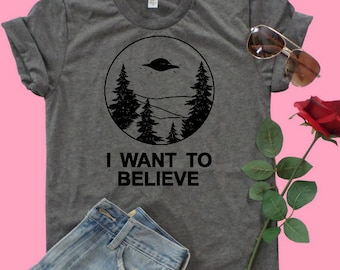 Alien I want to believe T-Shirt