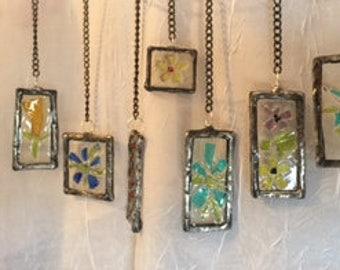 Mini Stained Glass Pendant, Sun Catcher