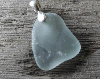 Light green sea glass pendant from Maryland's Eastern Shore