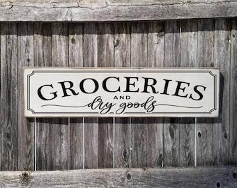 "Large Rustic Wood Sign HGTV Primitive DIY /""General Store/"" Fixer Upper"