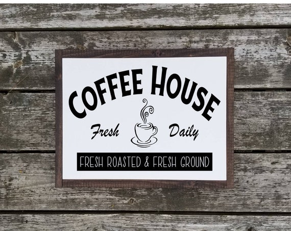 Coffee Sign - Coffee Bar Sign - Kitchen Decor - Farmhouse Decor - Rustic Decor - Housewarming Gift - Kitchen Sign -Farmhouse Sign -Primitive