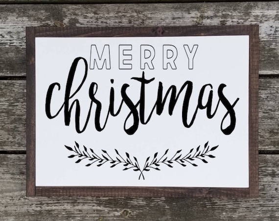 Merry Christmas Sign - Christmas Sign - Christmas Decor - Farmhouse Christmas - Farmhouse Decor