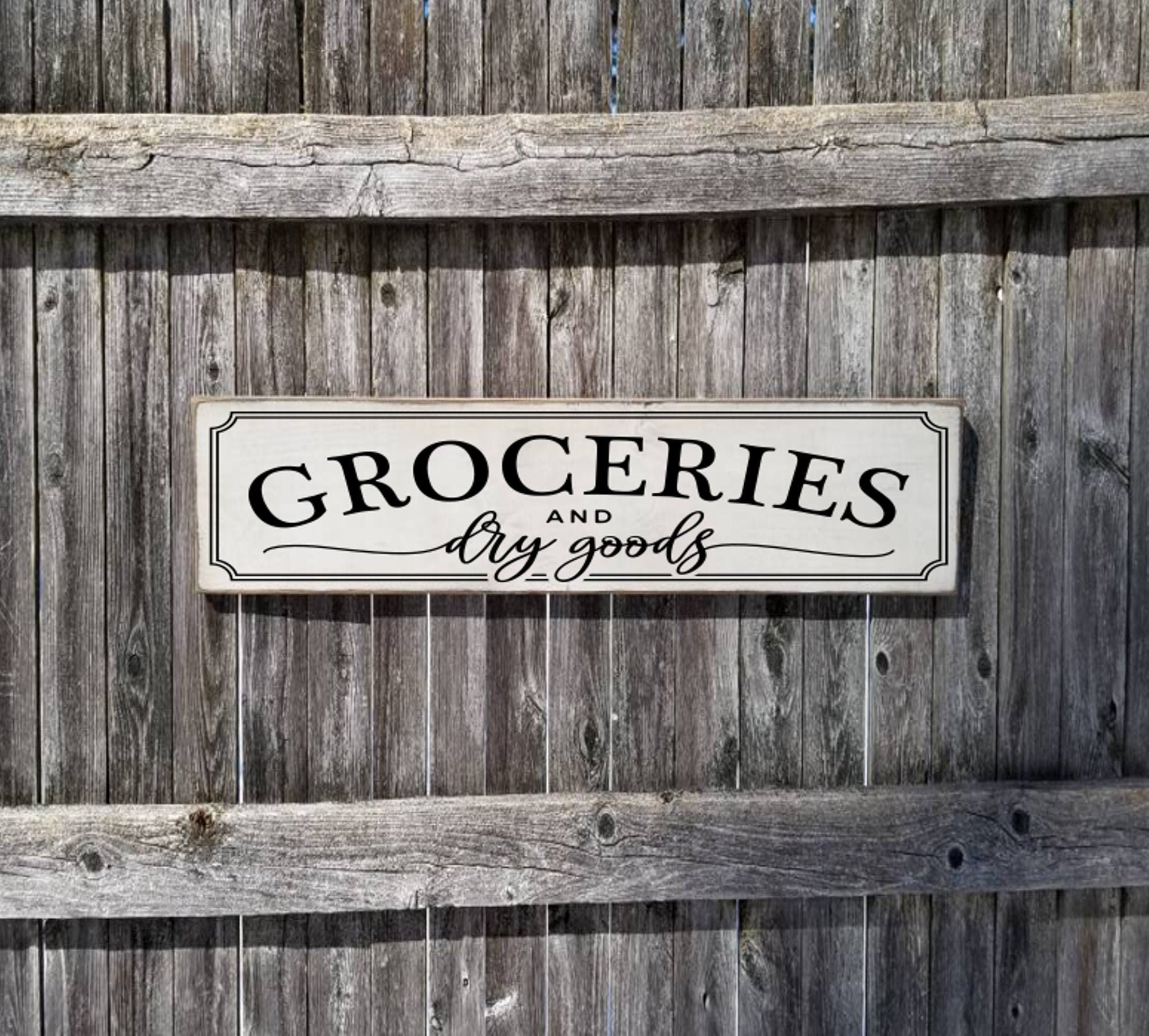 Groceries Sign Pantry Sign Farmhouse Decor Fixer Upper Home Deco Rustic Groceries Dry Good Sign Primitive Wood Sign Farmhouse Sign