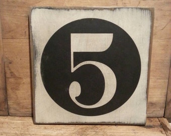 Gallery Wall Number Sign, Family Number Sign, Custom Wooden Sign, Farmhouse Decor, Primitive Decor, Rustic Decor