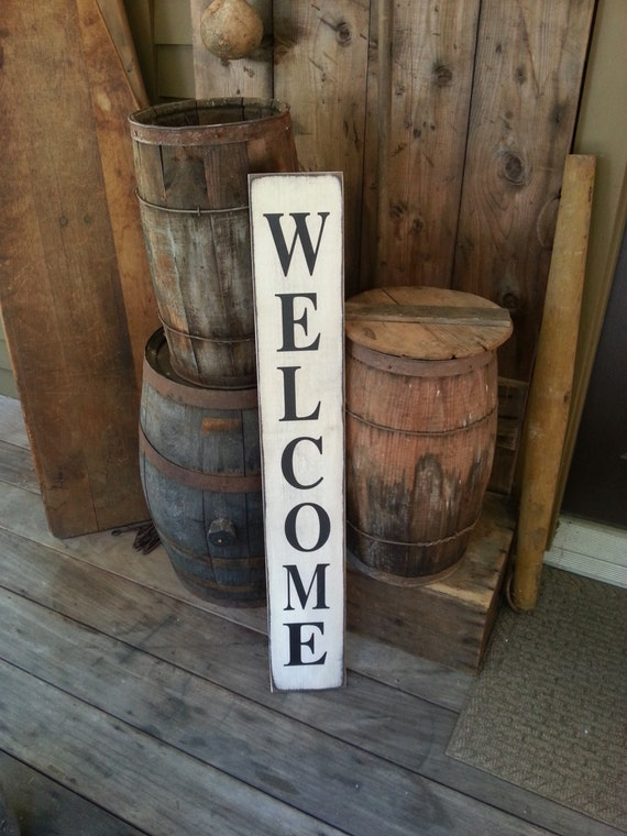 Welcome Sign - Farmhouse Décor - Farmhouse Sign - Fixer Upper Inspired Wood Sign - Primitive Sign - Rustic - Shabby Chic - Kitchen Sign