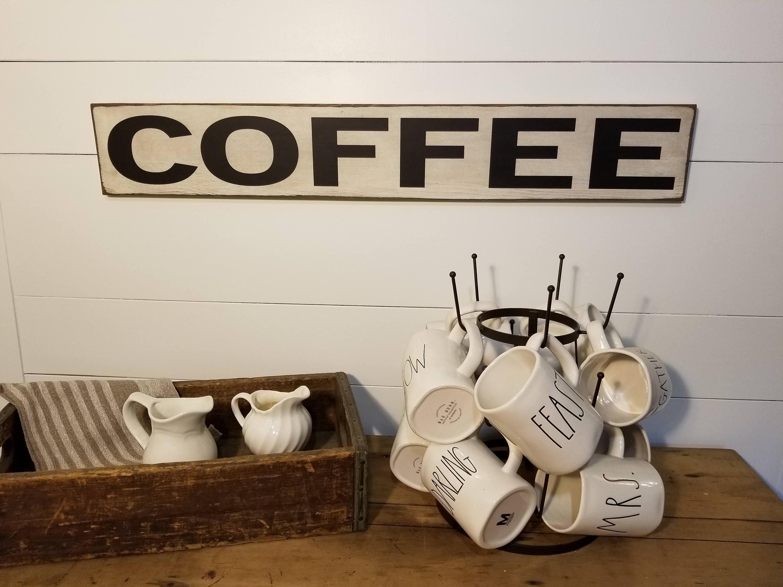 Coffee Sign Kitchen Sign Farmhouse Decor Coffee