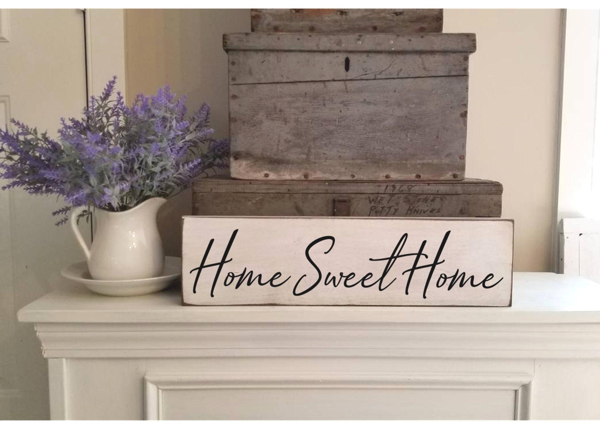 Home Sweet Home Sign Farmhouse Decor Primitive Wood
